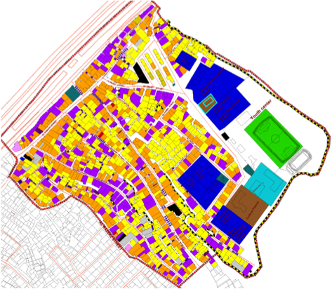Consultative process were used to develop this land use map of a neighborhood in Manshiyet Nasser (source: GIZ).  Related participatory processes could be used to develop urban plans that serve the interests of all Cairenes (credit: GIZ))
