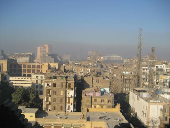 Cairo (Tahrir in background) - To the uninitiated, Cairo may seem like an environmental nightmare.  In fact, the density of Cairo represents one of the best strategies known to combat environmental destruction.
