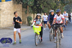 "GBI with Cairo Runners in a ""Critical Mass"" type event (Mostafa Ahmed – GBI Team)"