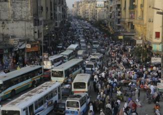 [Cairo Traffic. Image by Andy Serrano via andyserrano.com]