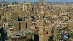 Imagine if the satellites that cover Cairo's rooftops were replaced with solar. Source: Wikicommons