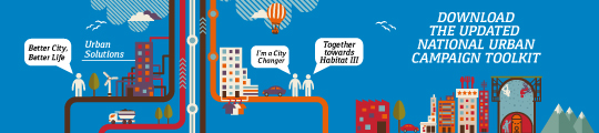 "The World Urban Campaign's ""I'm a City Changer"" initiative aims to encourage civic participation in urban development."
