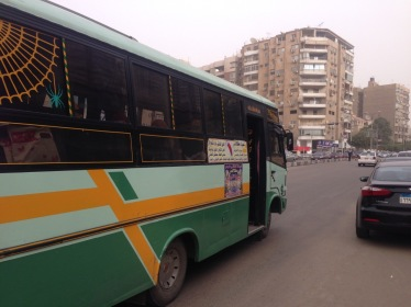 A privately operated minibus under license from the Egyptian authorities (Creative Commons CC-0)
